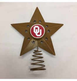 Topperscott OU Metal Christmas Tree Topper
