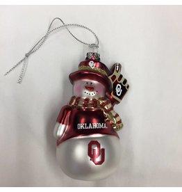 Topperscott OU Glitter Snowman Ornament
