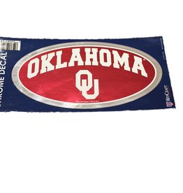 "WinCraft Oklahoma OU Chrome Finish 5.5""x2.5"" Oval Decal"