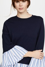CLU The Mix Media Ruffle Top