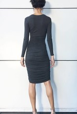 NORMA KAMALI The V-Neck Shirred Dress
