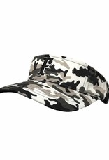 pacific headwear Camo Visor Black/White