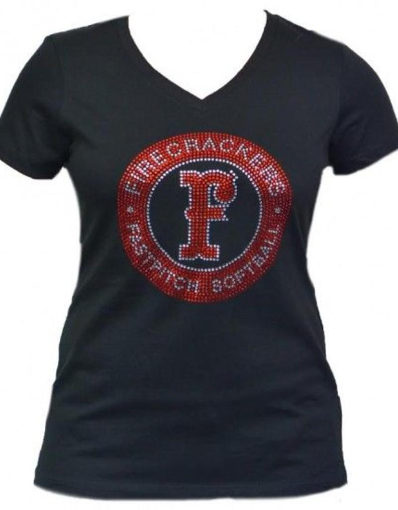 Rhinestone Circle Logo Shirt