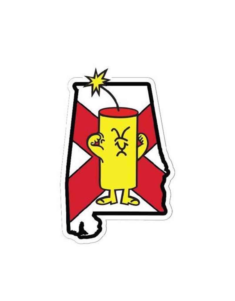 car stickers FC Dude Decal- ALABAMA