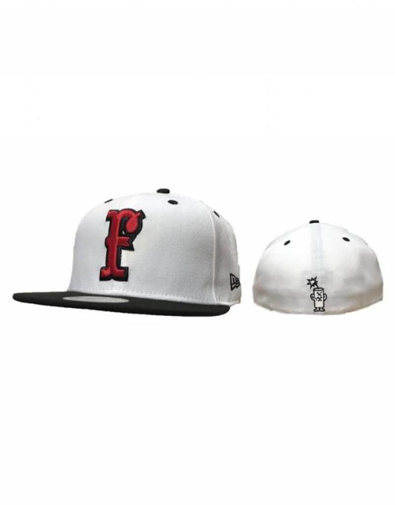 new era New Era Fitted Hat White/Black