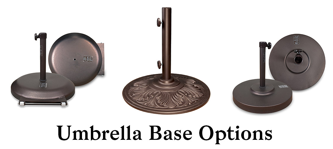 Umbrella Base Options