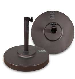 California Umbrella California Umbrella 50 LBS Umbrella Base With Steel Cover with Concrete Bronze