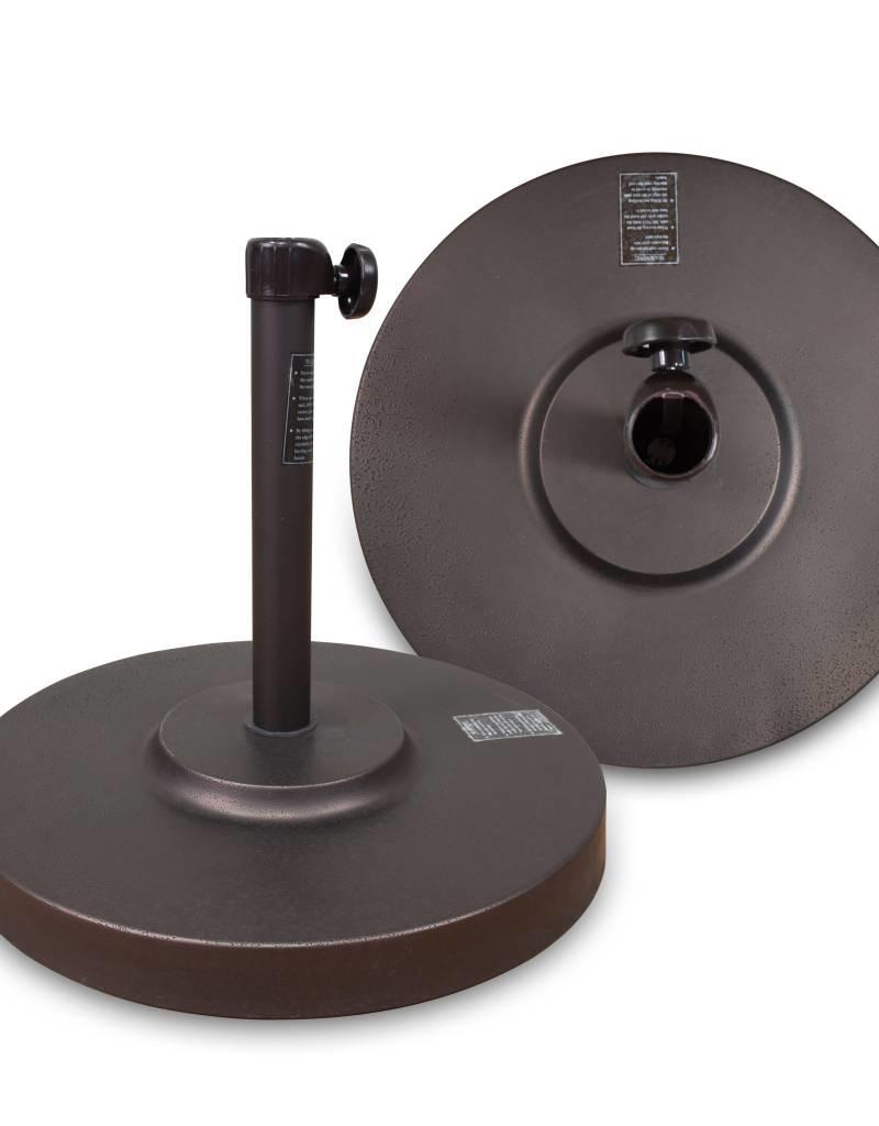 California Umbrella California Umbrella 50LBS Umbrella Base With Steel Cover with Concrete Bronze