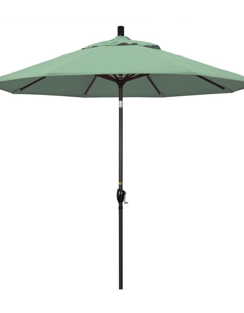 California Umbrella 9u0027 Pacific Trail Series Patio Umbrella With Bronze  Aluminum Pole Aluminum Ribs Push ...