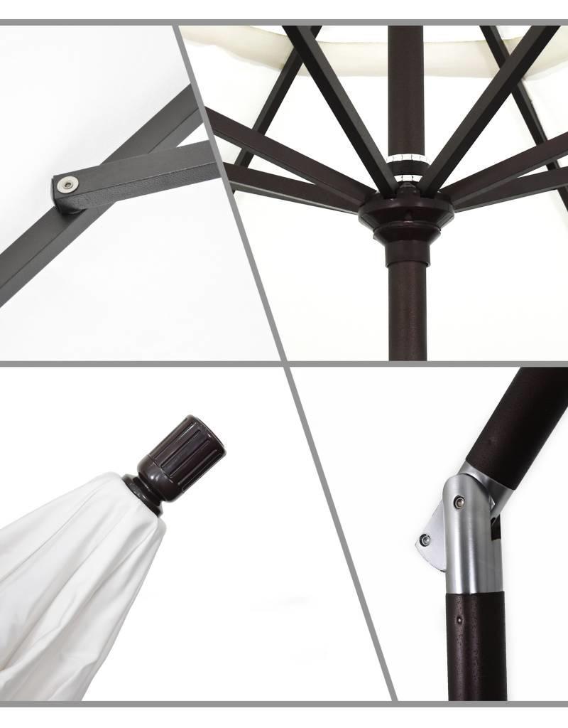 california umbrella 9 sun master series patio umbrella with matted black aluminum pole fiberglass ribs - Black Patio Umbrella