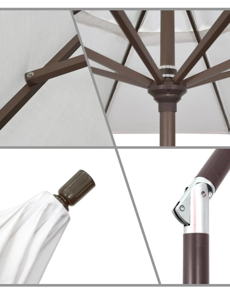... California Umbrella 9u0027 Pacific Trail Series Patio Umbrella With Bronze  Aluminum Pole Aluminum Ribs Push ...