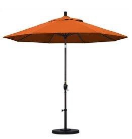 California Umbrella California Umbrella 9' Pacific Trail Series Patio Umbrella With Bronze Aluminum Pole Aluminum Ribs Push Button Tilt Crank Lift With Pacifica Tuscan Fabric