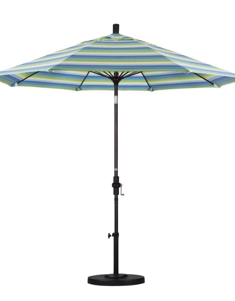 California Umbrella 9u0027 Sun Master Series Patio Umbrella With Bronze  Aluminum Pole Fiberglass Ribs Collar ...