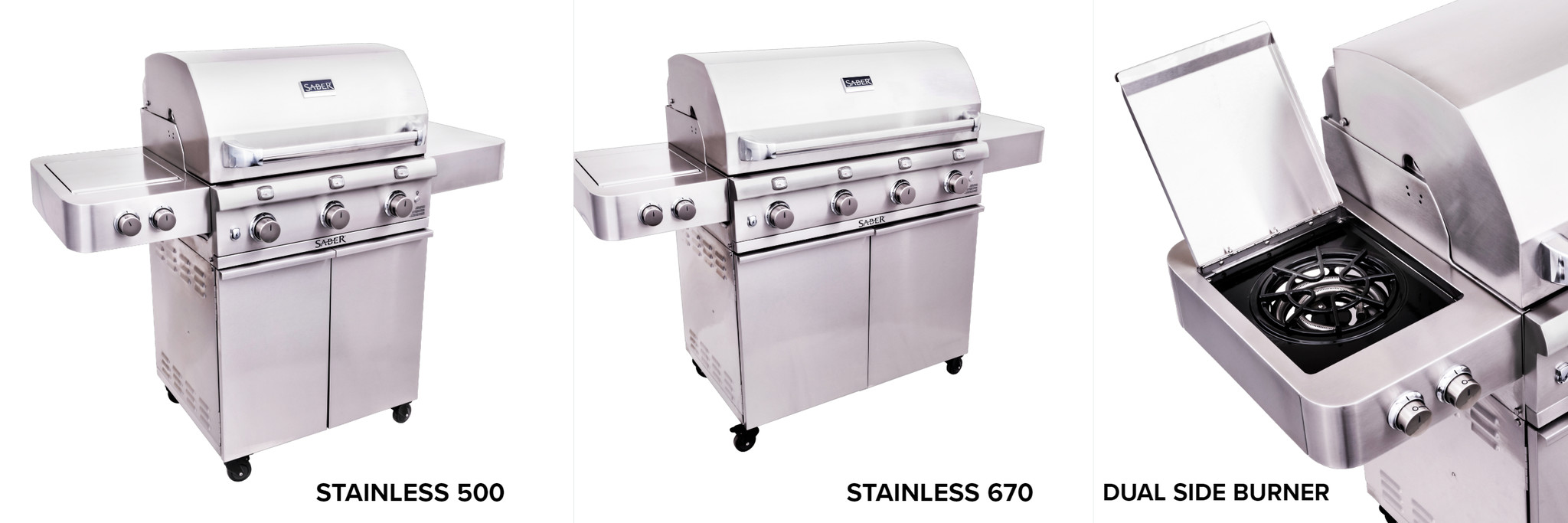Saber Grills Stainless Cart Series