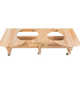 Primo Ceramic Grills Primo Cypress All-Event Grill Table for XL and JR. Oval Grills
