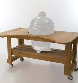 Primo Ceramic Grills Primo Cypress Table for Kamado Round