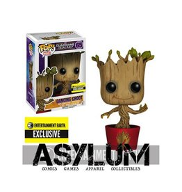 Funko Guardians of the Galaxy Ravagers Logo Dancing Groot Pop! Vinyl Bobble Head Figure - Entertainment Earth Exclusive