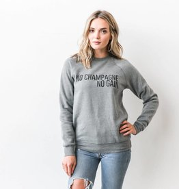 BRUNETTE  the label Pullover Crew,  Champagne