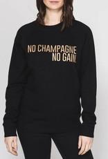 BRUNETTE  the label Pullover Crew,  Champagne