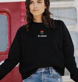 BRUNETTE  the label Rosie BLONDE crew