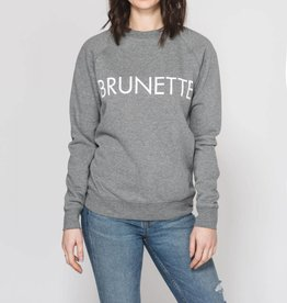 BRUNETTE  the label BRUNETTE Crew, GREY/WHITE