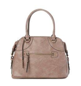 JEANE & JAX 3 Pocket Shoulder Bag ROSEWOOD
