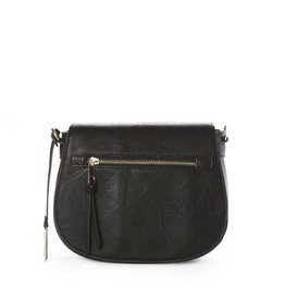 JEANE & JAX Zip Flap Crossbody BLACK