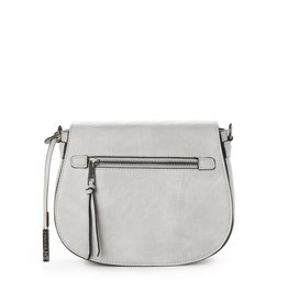 JEANE & JAX Zip Flap Crossbody ICE