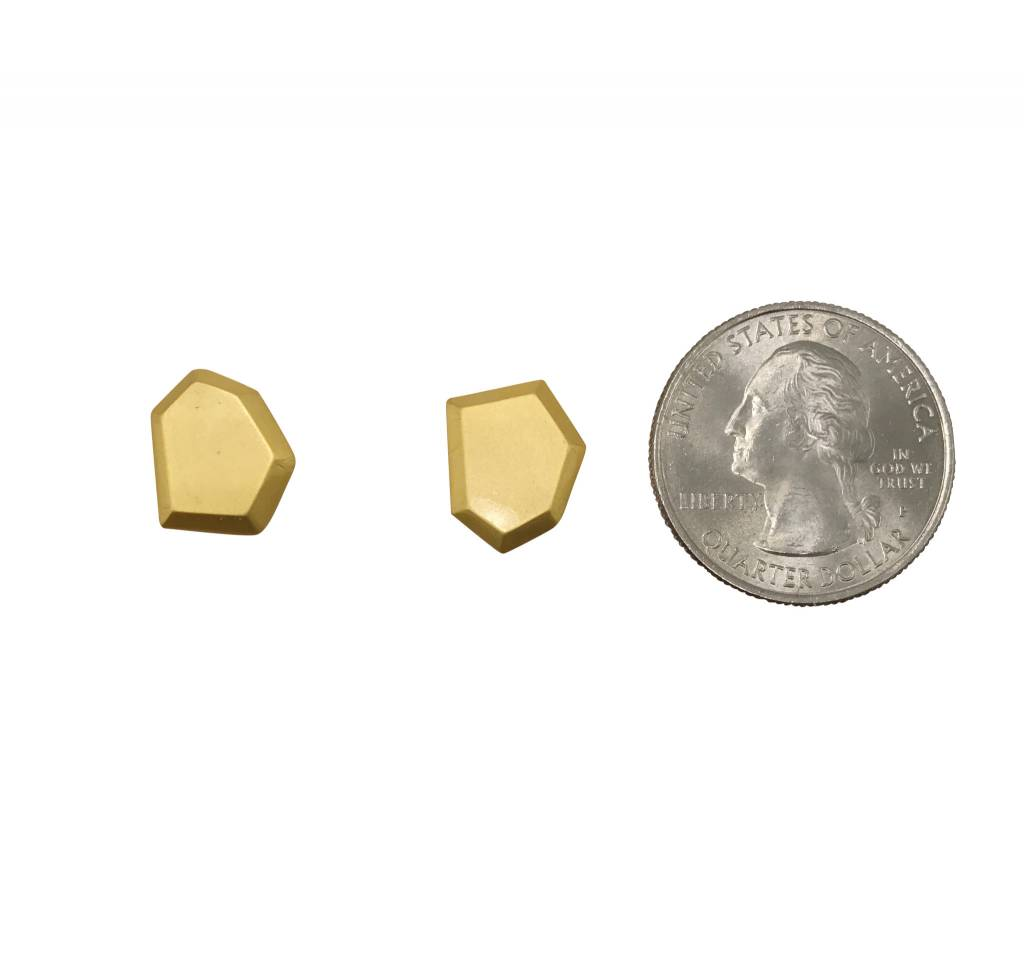 Gold Faceted Studs