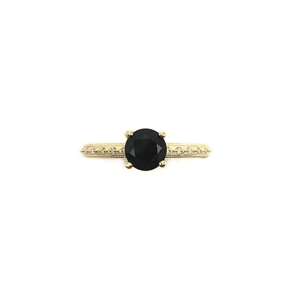 Victorian Onyx and Diamond Engagement Ring