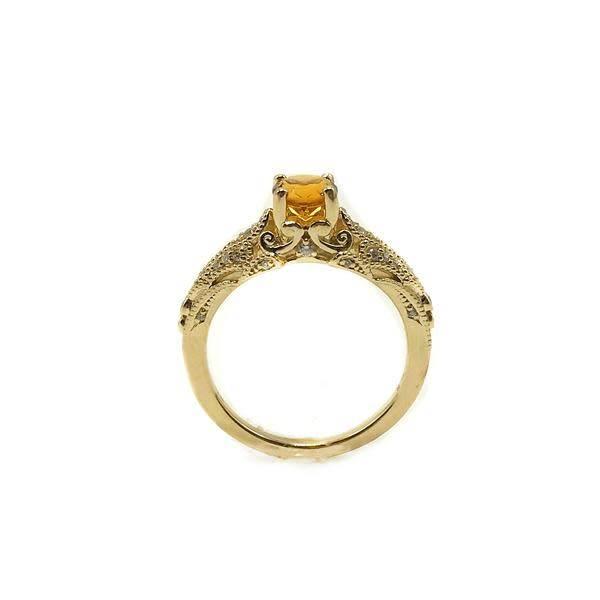 Maharaja Citrine Engagement Ring