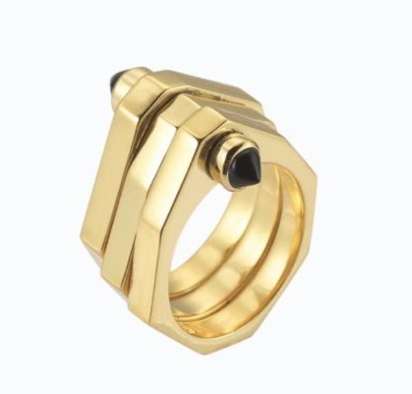 One Finger Two Finger Stack Ring