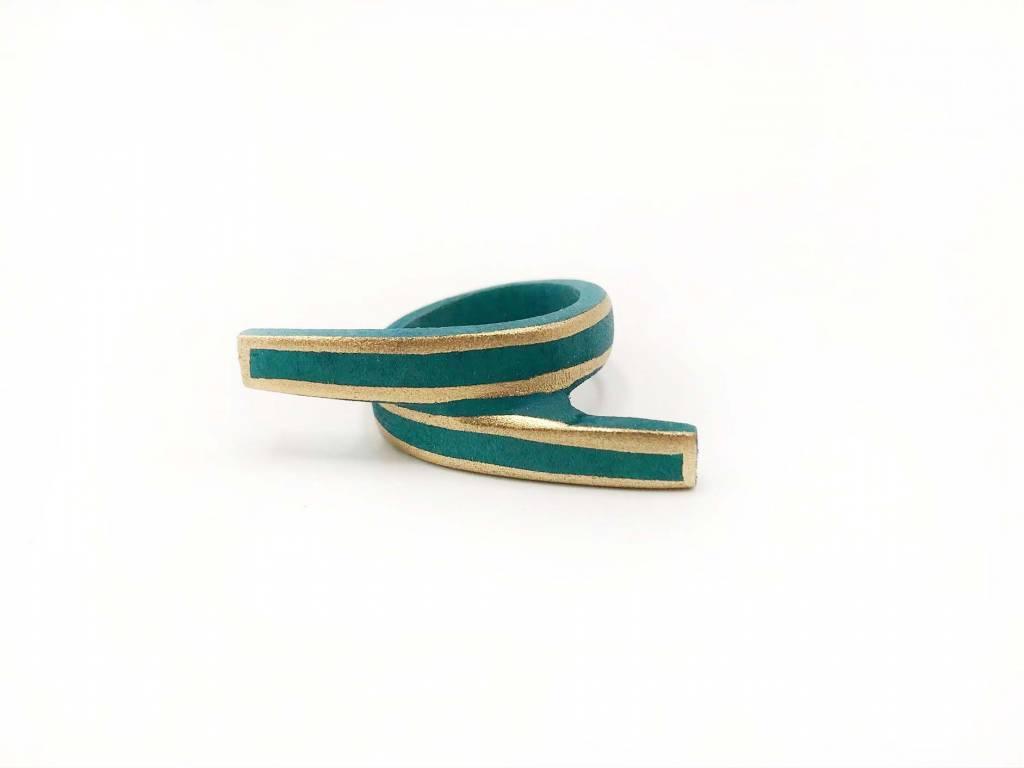 Wood Ribbon Rings