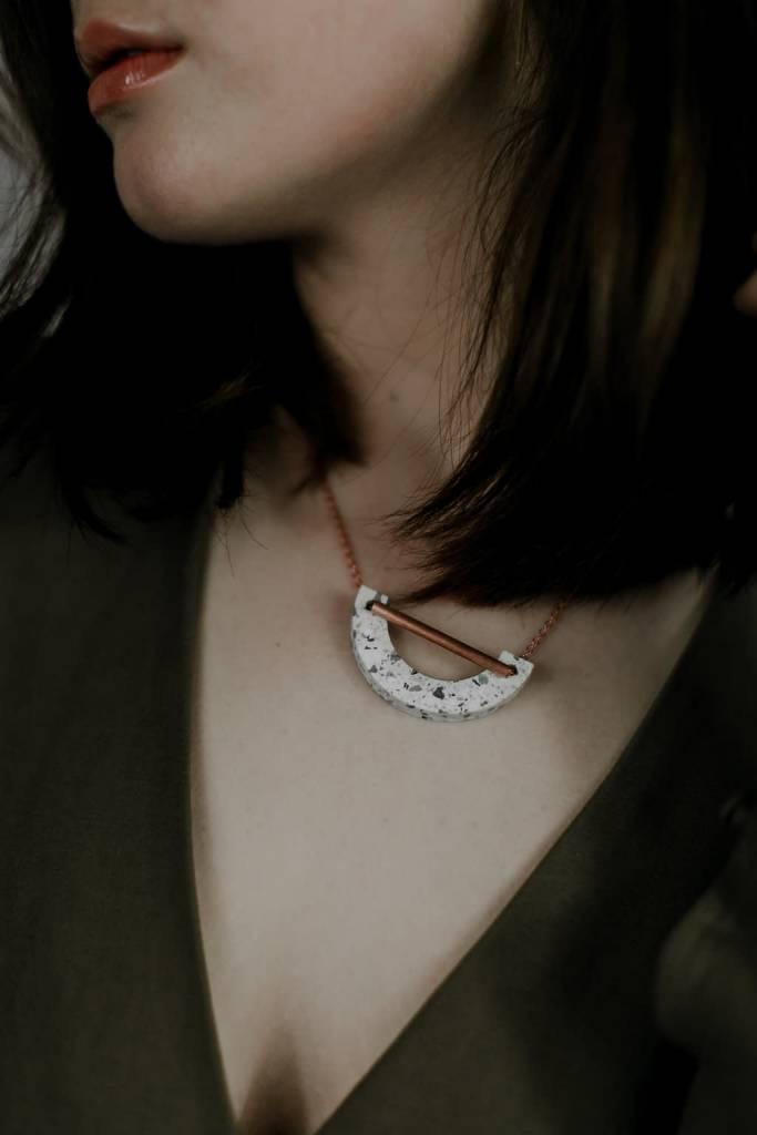 Mod U Bar Necklace - Cobalt