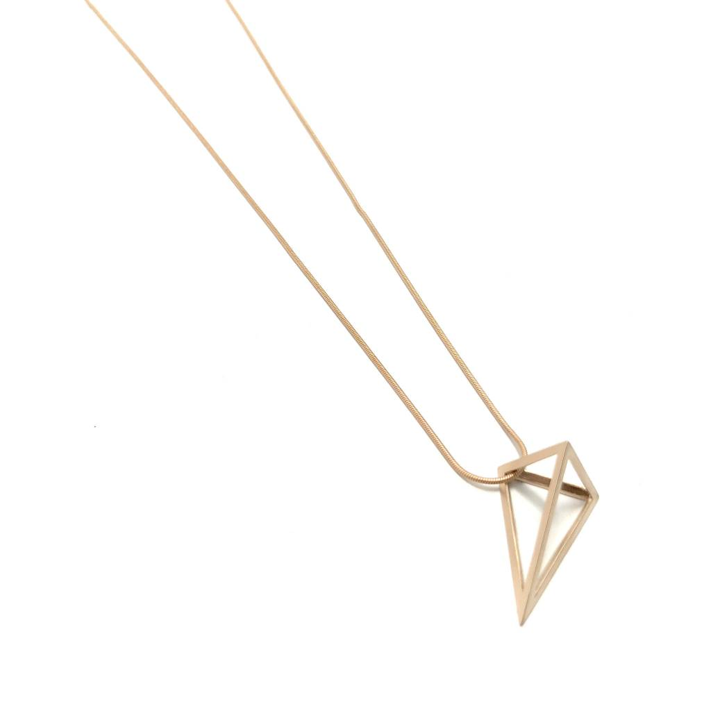 Pyramid Long Necklace