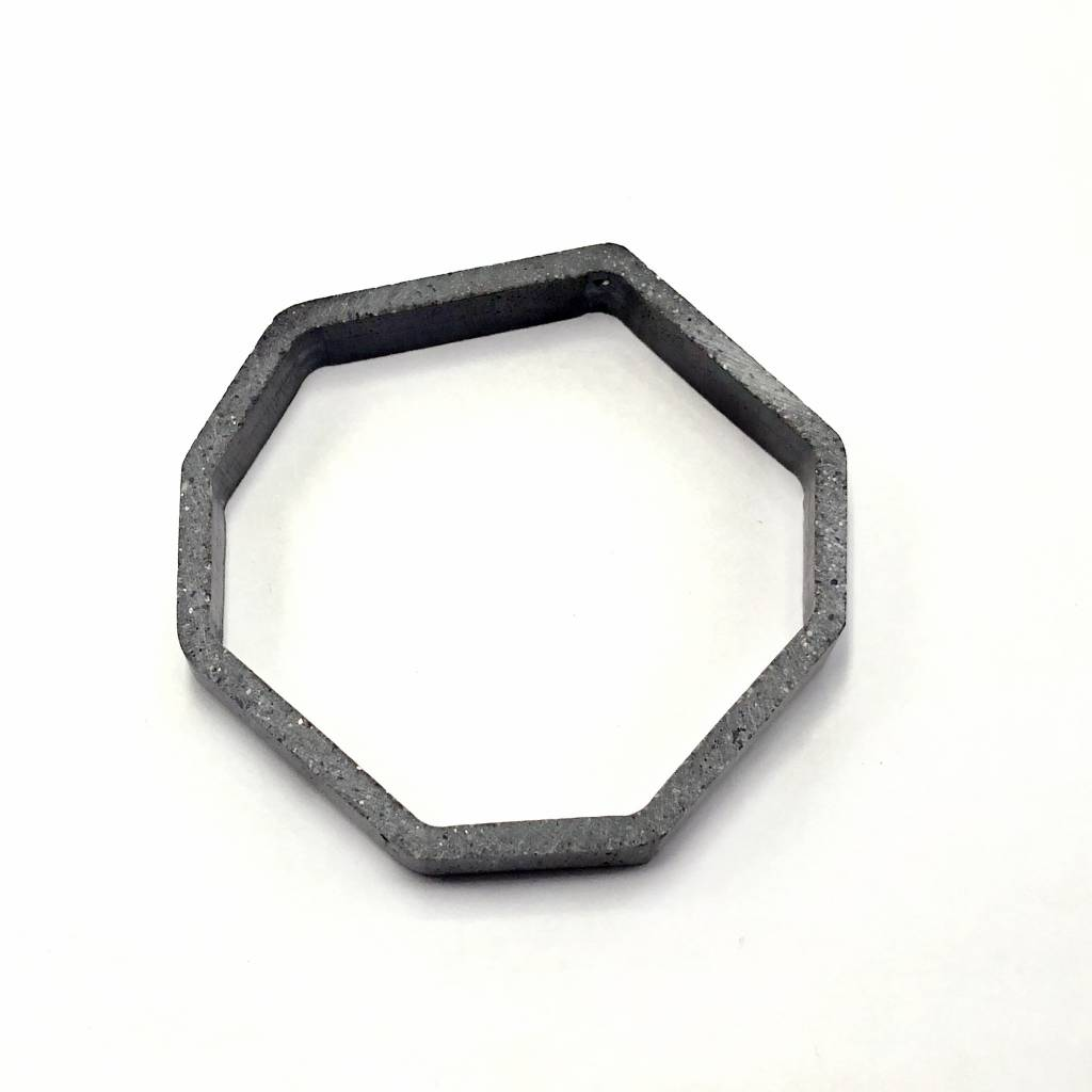 Cement Outline Bangle-Octgagon