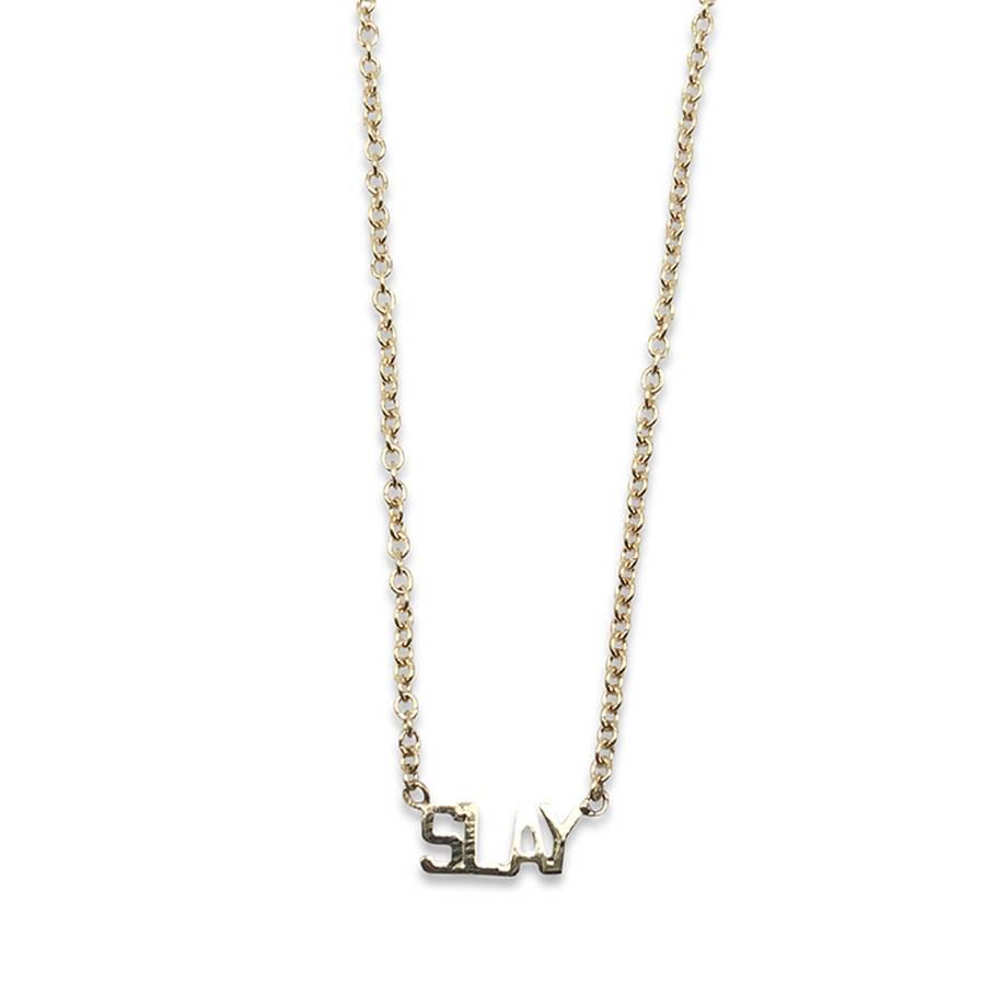 "May Martin ""Slay"" Gold Necklace"