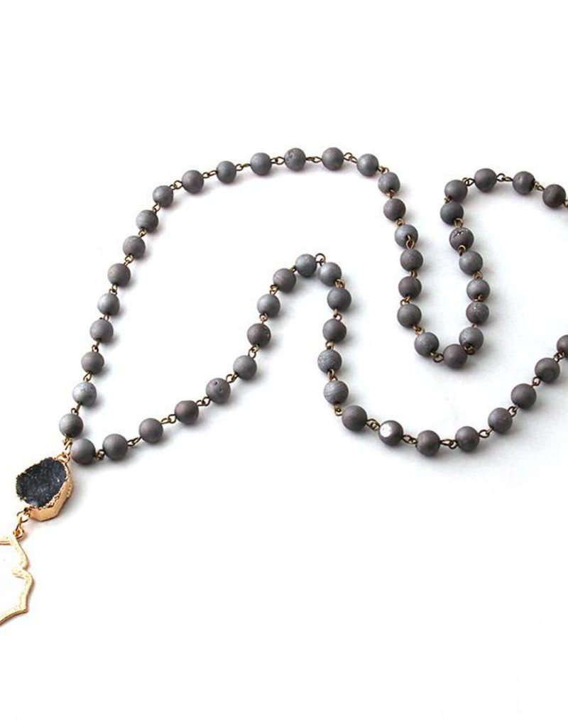 LONDYN Druzy Pendant Necklace