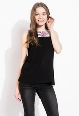 THML BRINKLEY Embroidered Sleeveless Top