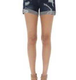KAYLA Distressed Cuff Boyfriend Shorts