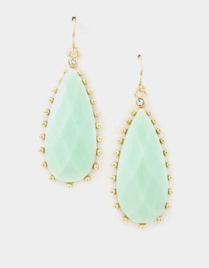 LILY Teardrop Mint Earrings