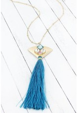 Heart Of The Sea Bejeweled Tassel Necklace More Colors