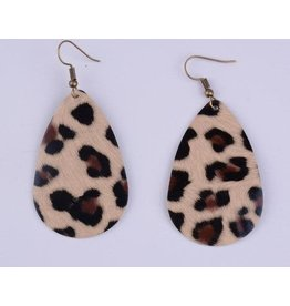 L&N Rainbery GINNY Safari Print Leather Earrings (More Colors)