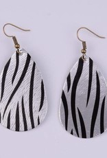 GINNY Printed Leather Earrings