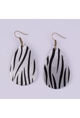L&N Rainbery GINNY Safari Print Leather Earrings (More Colors)
