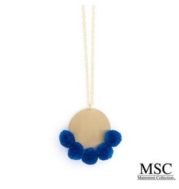 Mainstreet Collection CALI Pom Pom Disc Necklace More Colors