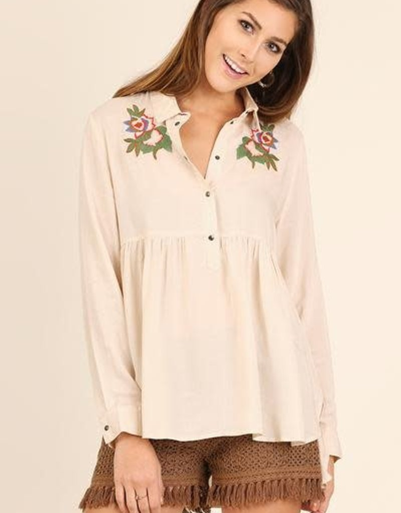 UMGEE ALEXA Embroidered Button Up Tunic