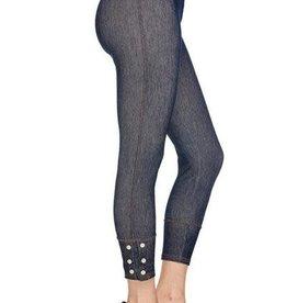 2NE1 Apparrel CAPRI Denim Legging with Rhinestone Buttons