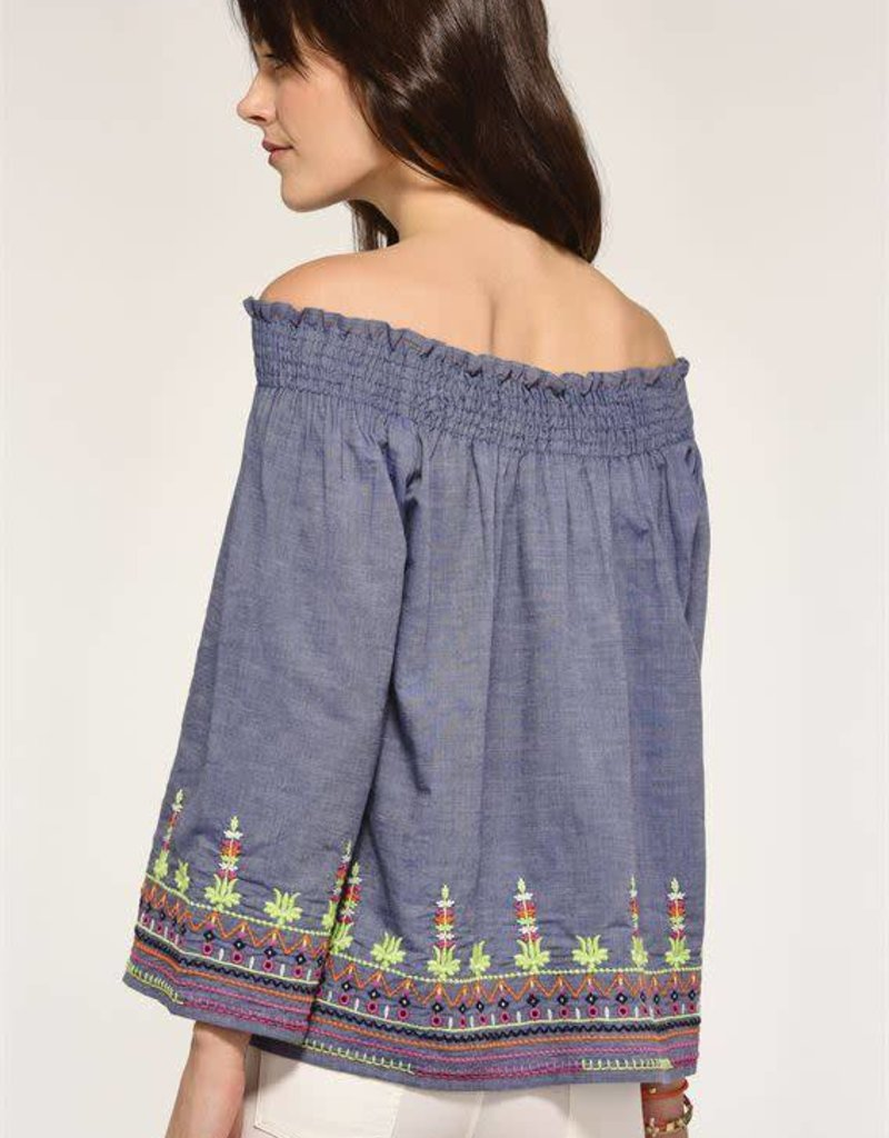 Charlie Paige EMMY Embroided Top