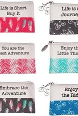 ENJOY THE JOURNEY Zippered Pouch